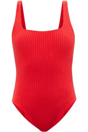 Mara Hoffman Percy Square-neck Ribbed Jersey Bodysuit