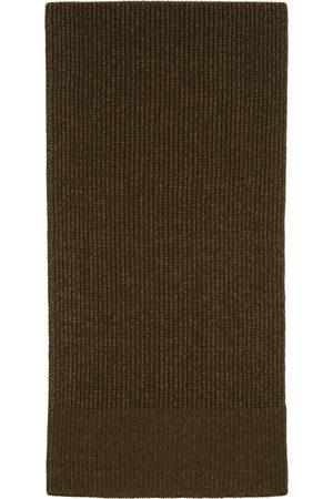 Maison Margiela Herren Schals - Green Wool Knit Scarf