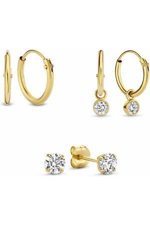 Isabel Bernard Damen Uhren - Ohrringe Cadeau D'Isabel 14 Karat Set Of 3 Pairs Of Earring gold