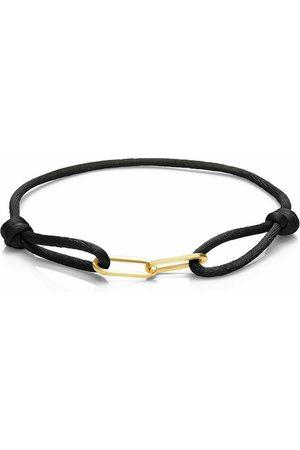 Isabel Bernard Damen Uhren - Armband Aidee Gabi Black Satin Bracelet With Links gold