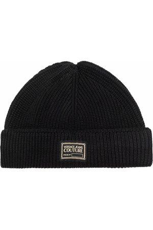 VERSACE Damen Hüte - Gerippte Beanie mit Logo