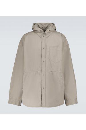 Balenciaga Oversize-Hemdjacke aus Baumwolle