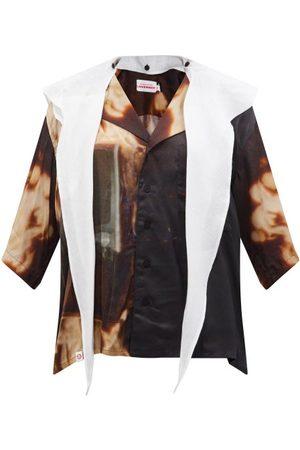 Charles Jeffrey LOVERBOY Abstract-print Collared Crepe Shirt