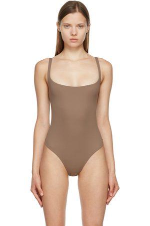 SKIMS Damen Bodys - Taupe Fits Everybody Square Neck Bodysuit