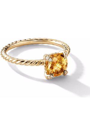 David Yurman 18kt Chatelaine Gelbgoldring mit Diamanten