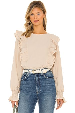 LINE & DOT Carly Crinkled Blouse in . Size XS, S, M.