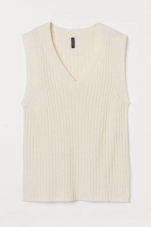 H&M Damen Pullover - Gerippter Pullunder