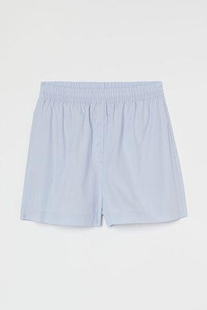 H&M Damen Schlafanzüge - Schlafshorts aus Popeline