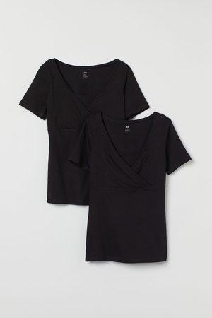 H&M Damen T-Shirts, Polos & Longsleeves - MAMA 2er-Pack Stillshirts