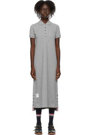 Thom Browne Grey RWB Stripe Polo Dress