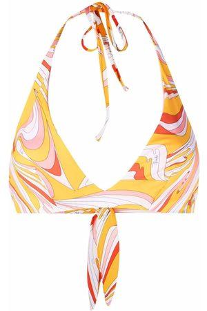 Emilio Pucci Damen Bikinis - Vortici-Print Underwired Bikini Top