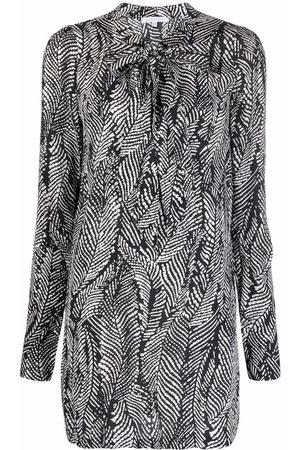 Patrizia Pepe Damen Cocktailkleider - Kleid mit Feder-Print