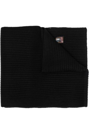 Parajumpers Gerippter Schal mit Logo-Patch