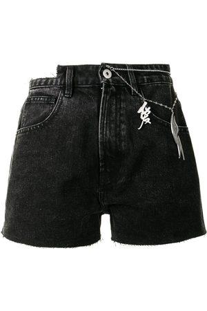 Ground Zero Jeans-Shorts mit Zierkette