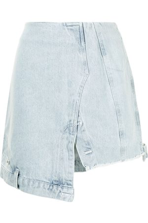 Ground Zero Damen Midiröcke - Jeans-Midirock im Deconstructed-Look