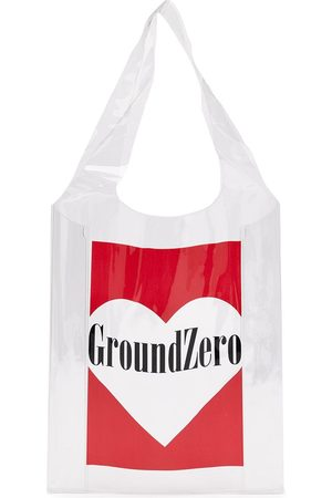 Ground Zero Transparenter Shopper mit Logo-Print