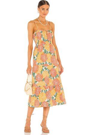 FAITHFULL THE BRAND Shaloom Midi Dress in . Size XS, S, M, XL.