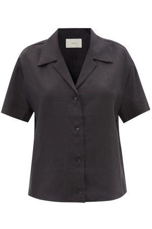 Asceno Prague Short-sleeved Organic-linen Shirt