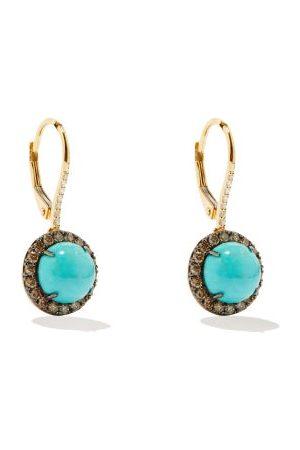 Rosa De La Cruz Diamond, Turquoise & 18kt Earrings