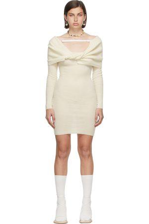 Jacquemus Damen Kleider - Off-White La Montagne 'La Robe Ascua' Dress