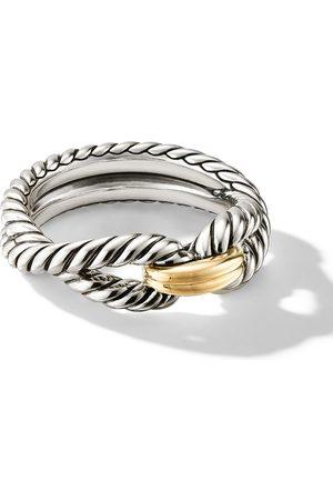 David Yurman Damen Ringe - 18kt Gelbgold- und Sterlingsilberring mit Diamanten