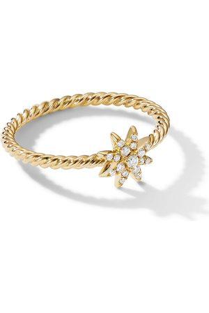 David Yurman 18kt Starbust Gelbgoldring mit Diamanten
