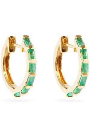Shay Emerald & 18kt Hoop Earrings