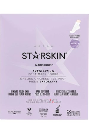 StarSkin Damen Socken & Strümpfe - Maske 'Magic Hour Exfoliating Foot Mask Socks