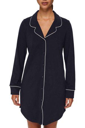 Esprit Beautiful Basics Langarm-Nachthemd, durchgeknöpft