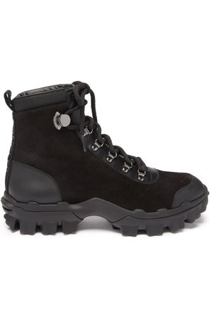 Moncler Helis Suede And Leather Hiking Boots