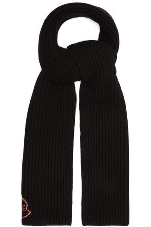 Moncler Logo-embroidered Ribbed Wool-blend Scarf