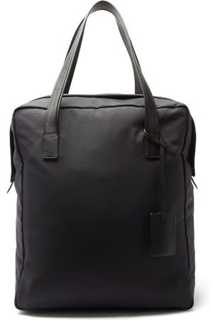 The Row Leather-trimmed Canvas Tote Bag