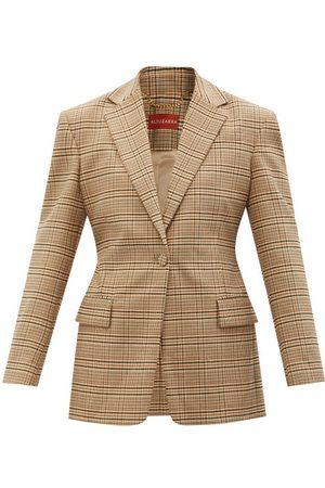 Altuzarra Macguffin Single-breasted Check Wool-blend Jacket