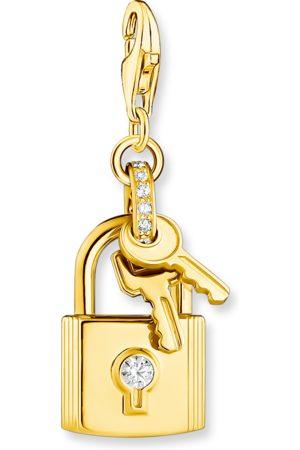 Thomas Sabo Charm-Anhänger Schloss mit Schlüssel gold