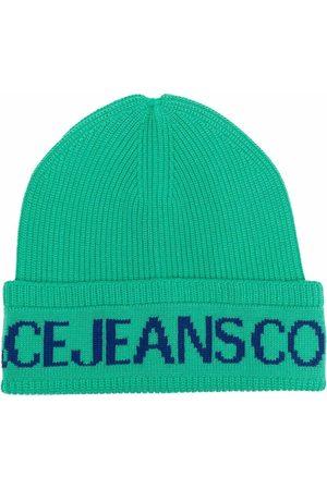 Versace Jeans Couture Mütze mit Logo-Print