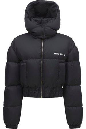 Miu Miu Daunenjacke Aus Nylon Mit Logo