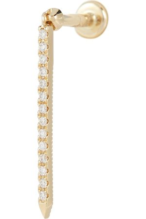 Maria Tash Einzelner Ohrring Eternity Bar Threaded aus 18kt Gelbgold mit Diamanten