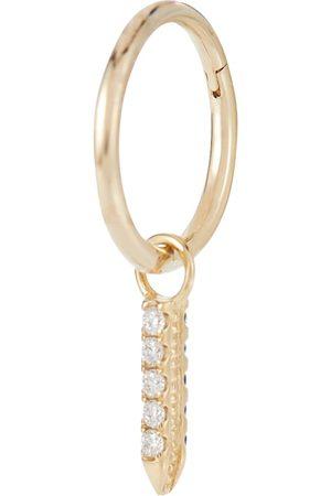 Maria Tash Einzelner Ohrring Eternity Bar aus 18kt mit Diamanten und Saphiren