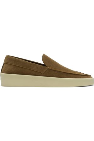 FEAR OF GOD Brown Suede 'The Loafer' Loafers