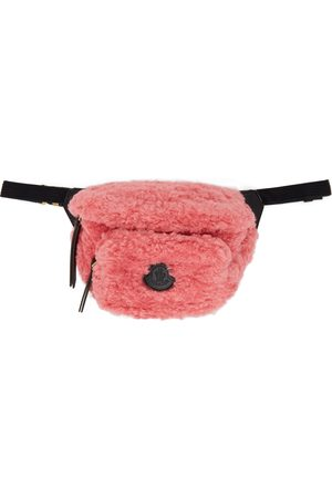 Moncler Pink Sherpa Felicie Belt Bag