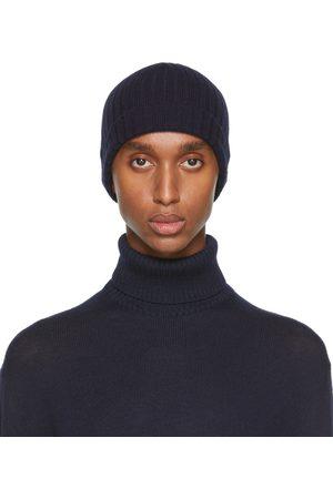 Jil Sander Navy Knit Wool Beanie