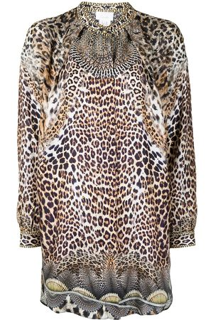 Camilla Damen Blusen - Hemd mit Leoparden-Print