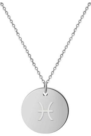 GOOD.designs Damen Halsketten - Kette Mit Anhänger Horoskop Kette Fische in , Schmuck für Damen