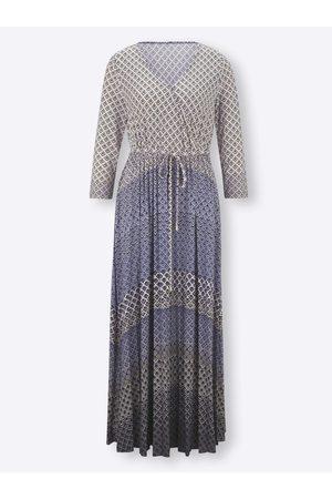 Rick Cardona Jersey-Kleid in jeansblau-gemustert von