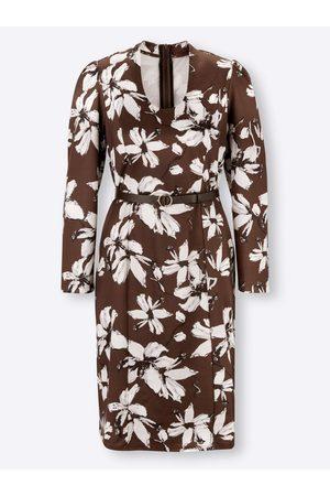 Ashley brooke Jersey-Kleid in schoko-hellgrau-bedruckt von