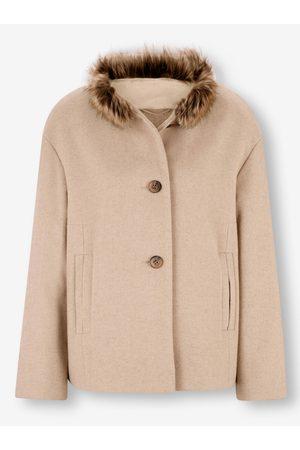 Ashley brooke Woll-Jacke in elfenbein von