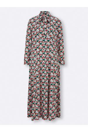 Rick Cardona Druck-Kleid in dunkelgrün-flamingo-bedruckt von