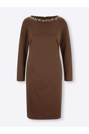 Ashley brooke Jersey-Kleid in schoko von