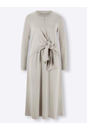 Ashley brooke Jersey-Kleid in hellgrau-meliert von