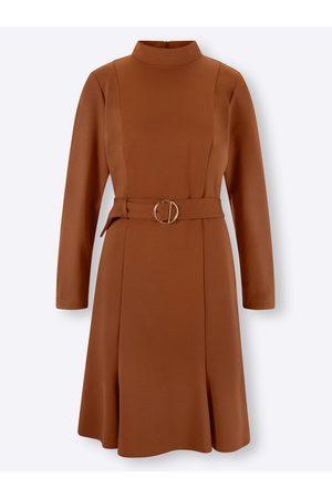 Ashley brooke Jersey-Kleid in cognac von